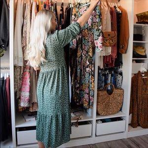 Zara NEW printed midi dress.